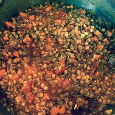 lentil soup - 1